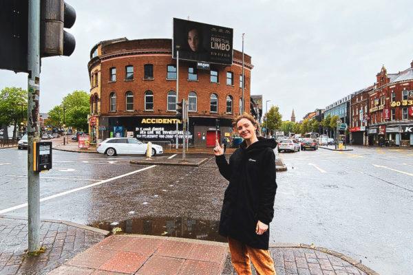Emily Ulster University Greer Garson Film Award - OOH advertising in-situ